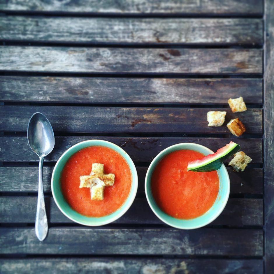 Wassermelonen Gazpacho 1. August Rezept