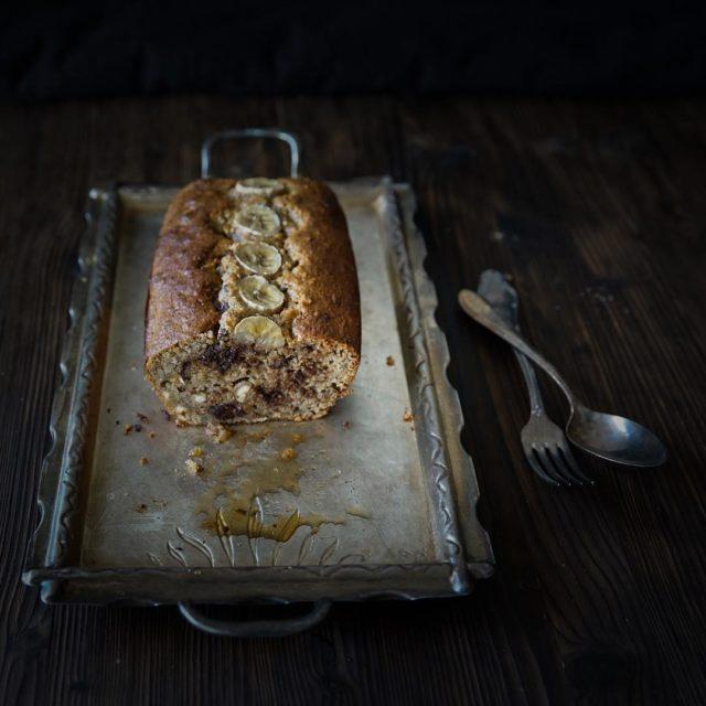 Neues Rezept ist online Schnelles Bananenbrot Mit Nssen und Schokostckenhellip