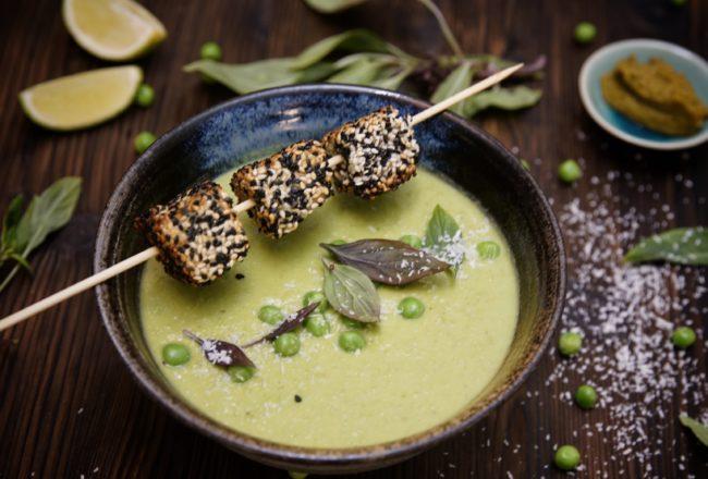 Bild Erbsensuppe Green Curry