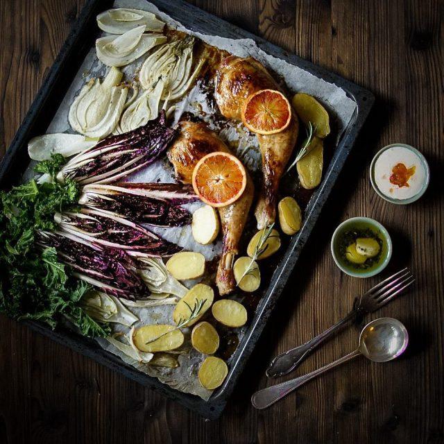 One Tray Recipe Sweet Glazed Chicken amp Roasted Veggies Alleshellip