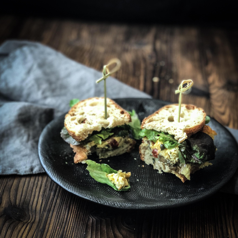 Bild Gemüse Ei Sandwich Rezept