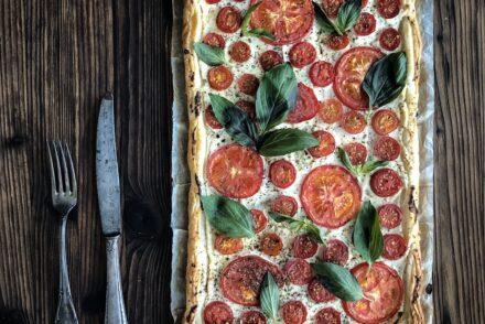 Tomaten Tarte Tomatentarte Rezept Tomaten einfach schnell Ofen backen