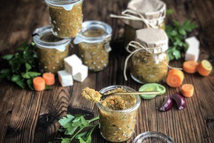 Selbstgemachte Gemüsebouillon Rezept selber machen Gemüsebrühe Geschenke aus der Küche